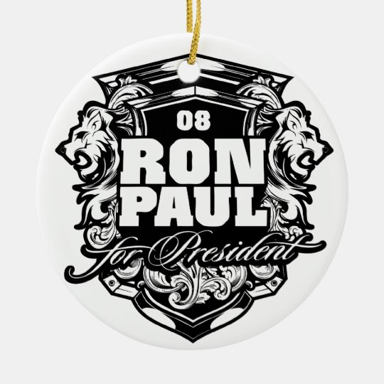 Ron Paul for President Round Ceramic Decoration