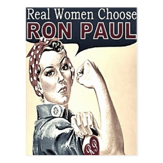 Ron Paul Girl Postcard