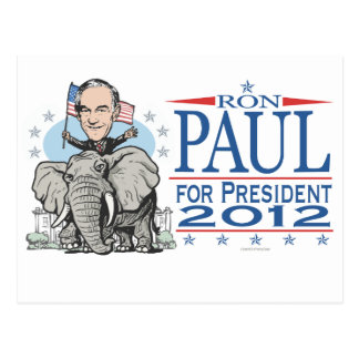 Ron Paul GOP Mascot 2012 Postcard