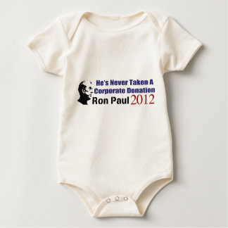 Ron Paul Has Never Taken A Corporate Donation Baby Bodysuit