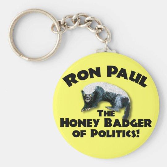 Ron Paul - Honey Bader 2012 Basic Round Button Key Ring