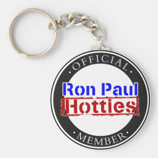 Ron Paul Hotties Gear Basic Round Button Key Ring
