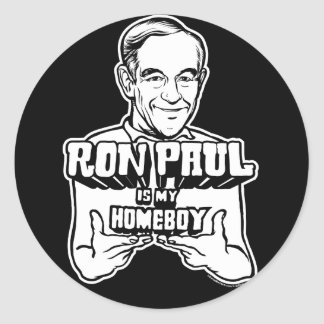 Ron Paul Is My Homeboy Stickers