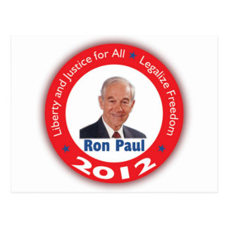 Ron Paul Liberty and Justice for ALL Post Cards