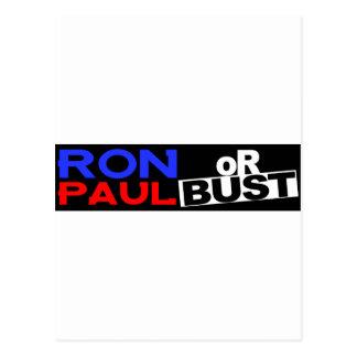 RON PAUL OR BUST POSTCARD