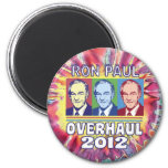 Ron Paul Overhaul 2012 Refrigerator Magnets