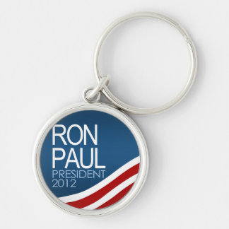 Ron Paul President 2012 Silver-Colored Round Key Ring