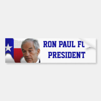 Ron Paul President Texas Bumper Sticker