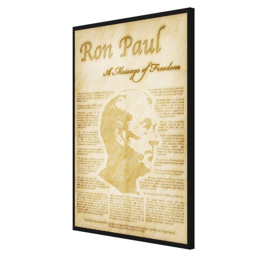 Ron Paul Quotes A Message Of Freedom Gallery Wrapped Canvas