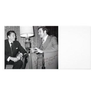 Ron Paul & Reagan Customizable Card Customised Photo Card