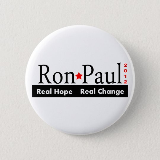 Ron Paul - Real Hope Real Change 2012 Button
