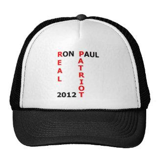Ron Paul Real Patriot 2012 Cap