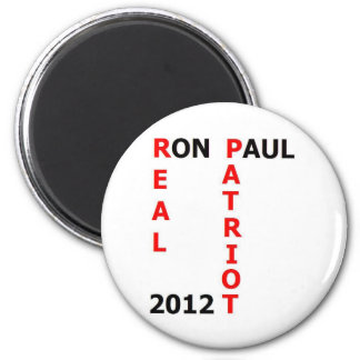 Ron Paul Real Patriot 2012 Refrigerator Magnets