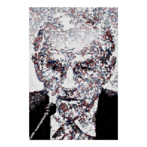 Ron Paul Red White and Blue Stars Mosaic 01 - post Posters
