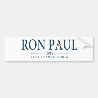 Ron Paul Restore America Now Bumper Sticker