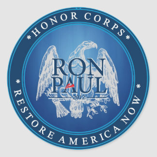 Ron Paul Restore America Now Round Sticker