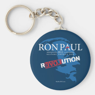 Ron Paul Revolution 2012 Basic Round Button Key Ring