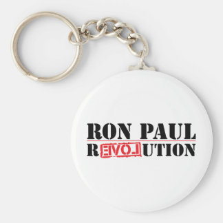 Ron Paul Revolution Basic Round Button Key Ring