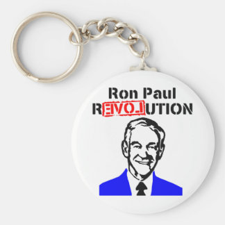 Ron Paul Revolution Blue n Red Basic Round Button Key Ring