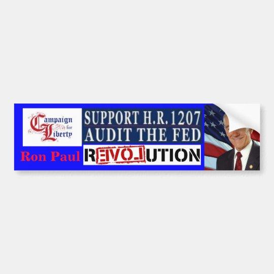 Ron Paul Revolution Campaign for Liberty HR 1207 Bumper Sticker
