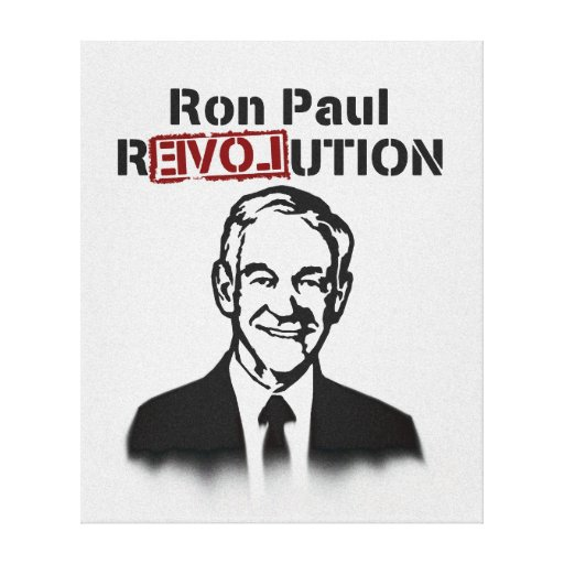 Ron Paul rEVOLution Gallery Wrap Canvas