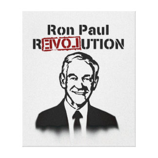 Ron Paul rEVOLution Stretched Canvas Print