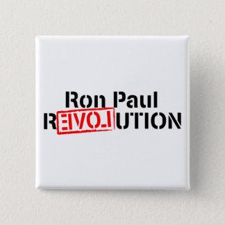 Ron Paul Revolution Continues 15 Cm Square Badge