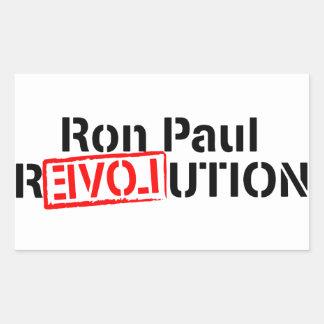 Ron Paul Revolution Continues Rectangular Sticker