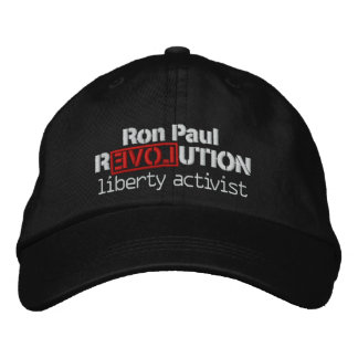 Ron Paul Revolution Hat Embroidered Cap