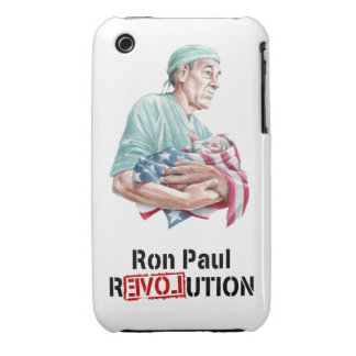 Ron Paul Revolution iPhone Case v1 iPhone 3 Covers