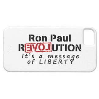 Ron Paul rEVOLution It's a message of Liberty Barely There iPhone 5 Case