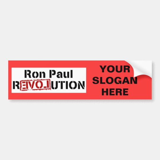 Ron Paul Revolution Logo Bumper Sticker