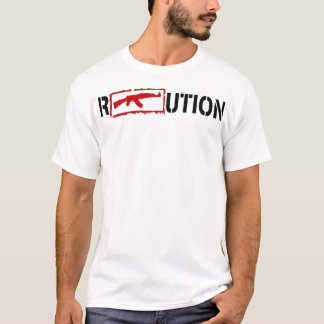 Ron Paul Revolution logo with an AK47 in it T-Shirt