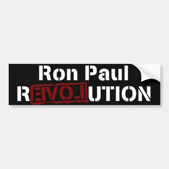 Ron Paul Revolution Love 2012 Bumper Sticker