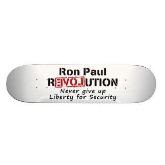 Ron Paul rEVOLution Never give up Liberty Custom Skate Board