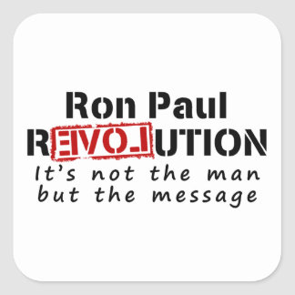Ron Paul rEVOLution not the man but the message Sticker