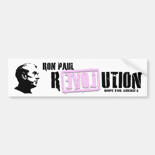 Ron Paul Revolution (pink) Bumper Sticker