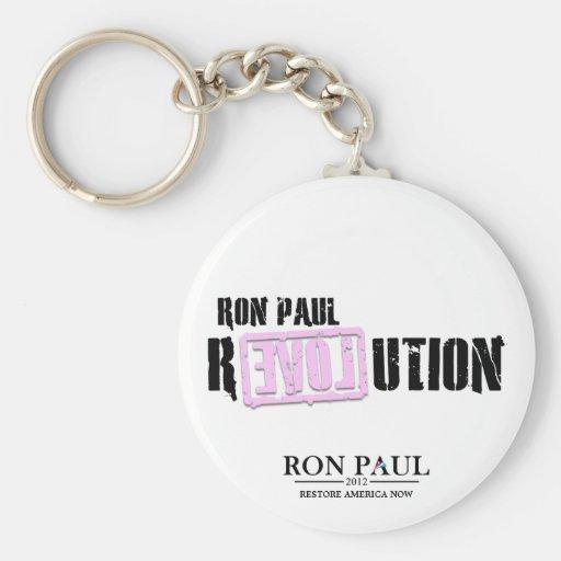 Ron Paul Revolution - Pink Key Chains