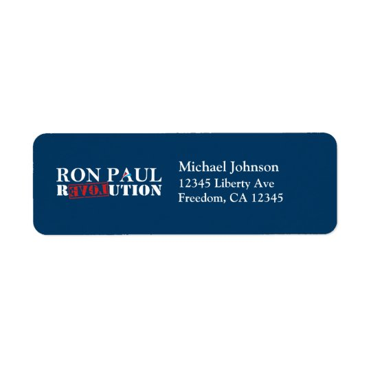 Ron Paul Revolution Return Address Labels (Navy)