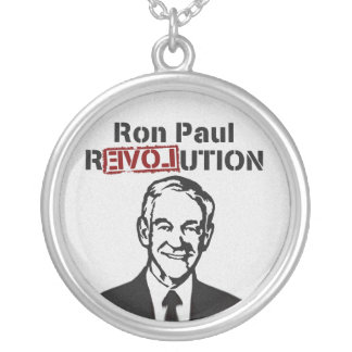 Ron Paul rEVOLution Round Pendant Necklace