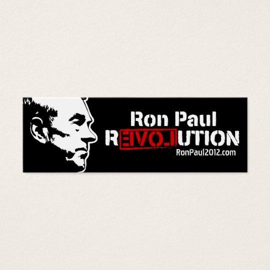 Ron Paul Revolution Skinny Business Cards