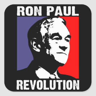 Ron Paul Revolution Square Sticker