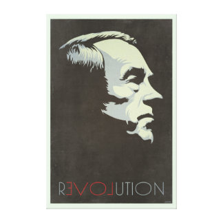 Ron Paul Revolution Vintage Canvases Stretched Canvas Prints