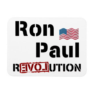 Ron Paul Revolution With American Flag Magnet