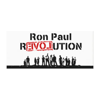 Ron Paul rEVOLution with Supporters Canvas Print