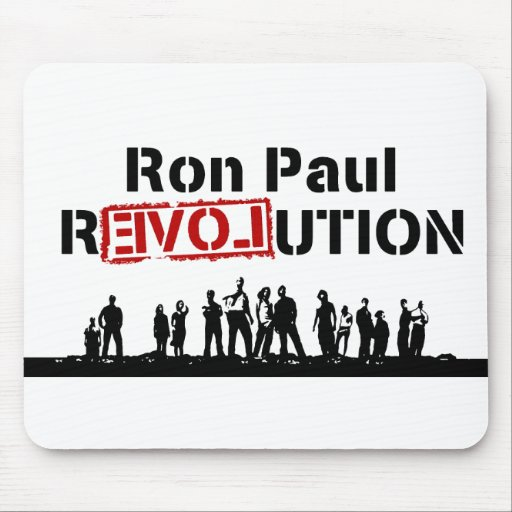 Ron Paul rEVOLution with Supporters Mouse Pad