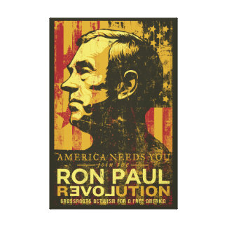 Ron Paul Revolution Wrapped Canvas Gallery Wrapped Canvas