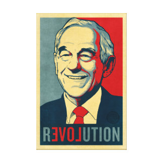 Ron Paul Revolution Wrapped Canvas Stretched Canvas Print