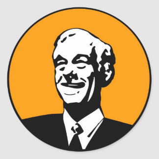 Ron Paul Round Sticker