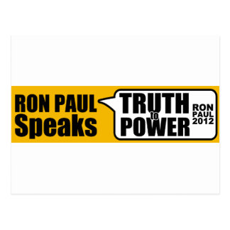Ron Paul Speaks Truth to Power Post Card